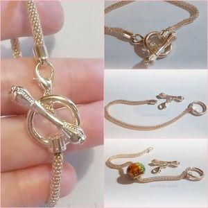 Rose Gold Tone Toggle Bracelet fit European Beads